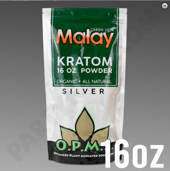 OPMS - Kratom Powder Tea Malay Silver 16oz. For Sale