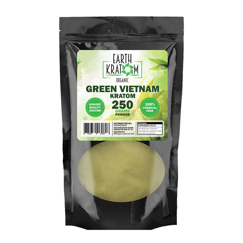 Earth - Kratom Powder Tea Green Vietnam 250gm For Sale