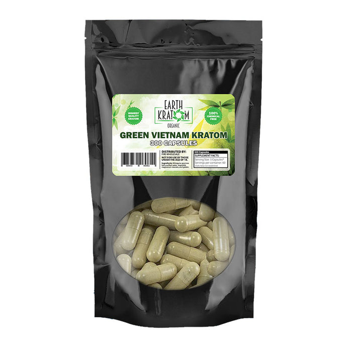 Earth Kratom - Capsule Green Vietnam 300ct