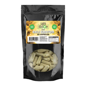Earth Kratom - Capsule Red Bali 65ct