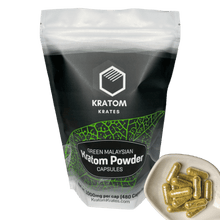 Load image into Gallery viewer, Kratom Krates - Capsule Green Malaysian