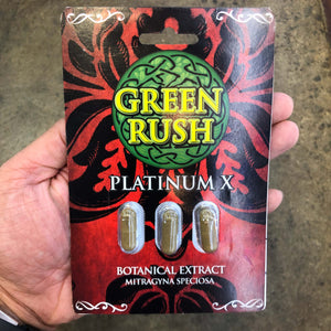 Green Rush - Kratom Capsule Extract Platinum 3ct