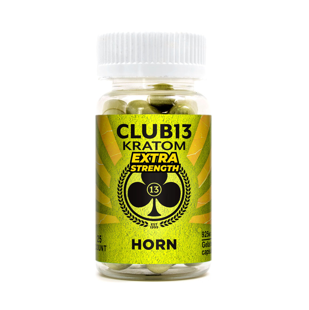 Club 13 - Kratom Capsule Horn Extra Strength For Sale