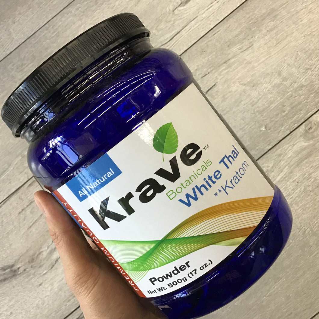 Krave Botanicals - White Thai Kratom 500 Gram Powder Loose Leaf