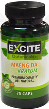 Load image into Gallery viewer, Excite Botanicals - Kratom Capsule Maeng Da 75ct