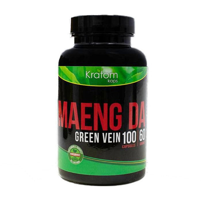Kratom Kaps - Kratom Capsule Maeng Da Green Vein 100ct For Sale