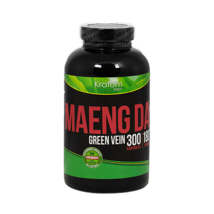 Kratom Kaps - Capsule Maeng Da 300ct Green Vein For Sale