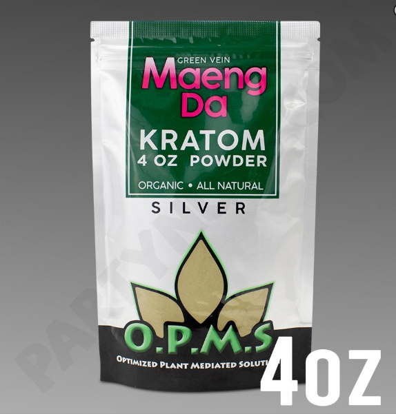 OPMS - Kratom Powder Tea Maeng Da Silver 4oz. For Sale