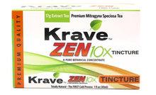 Load image into Gallery viewer, Krave Kratom - Liquid Extract Tea Zen 10X Tincture 30ml For Sale