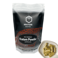 Load image into Gallery viewer, Kratom Krates - Capsule Red Borneo