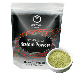 Kratom Krates - Powder Red Maeng Da