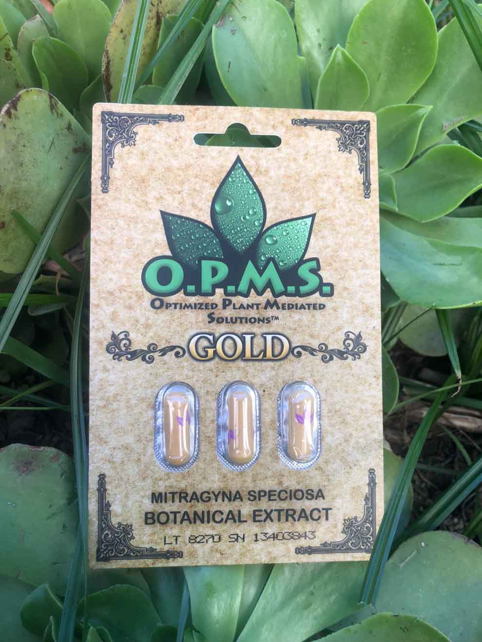OPMS - Gold Kratom Extract Capsules 3ct.