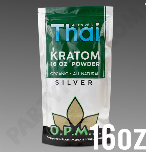OPMS - Kratom Powder Tea Thai Silver 16oz. For Sale