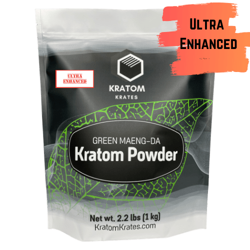 Kratom Krates - Kratom Powder Tea Green Maeng Da Ultra Enhanced For Sale