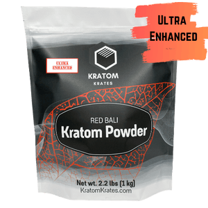 Kratom Krates - Kratom Powder Tea Red Bali (Horn) Ultra Enhanced