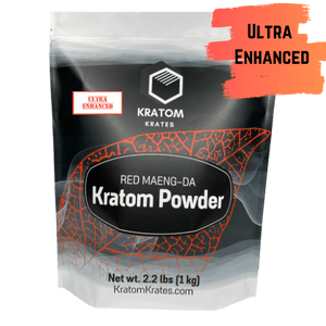 Kratom Krates - Kratom Powder Tea Red Maeng Da Ultra Enhanced For Sale