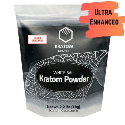 Kratom Krates - Powder White Bali (Horn) Ultra Enhanced