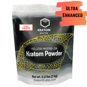 Kratom Krates - Kratom Powder Tea Yellow Maeng Da Ultra Enhanced For Sale