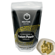 Load image into Gallery viewer, Kratom Krates - Capsule Yellow Maeng Da