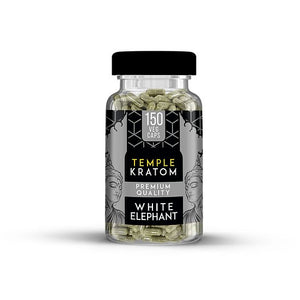 Temple Kratom - Capsule White Elephant 150ct