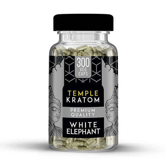 Temple Kratom - Capsule White Elephant 300ct