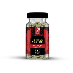 Temple Kratom - Capsule Red Vein 150ct