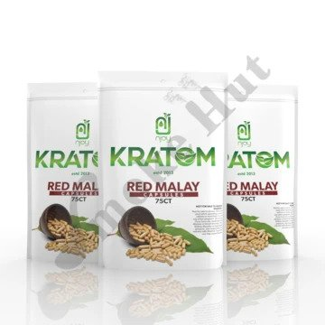 Njoy Kratom - Capsule Red Malay 75ct