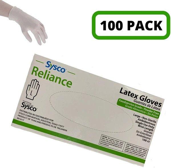 Sysco - Latex Gloves Box of 100 Count