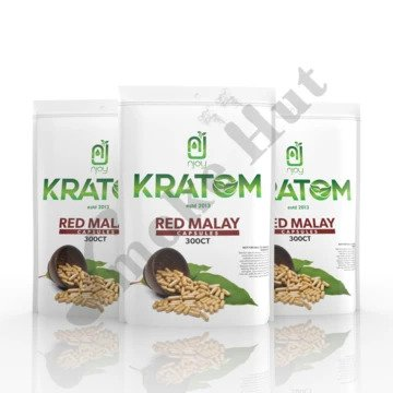 Njoy Kratom - Capsule Red Malay 300ct