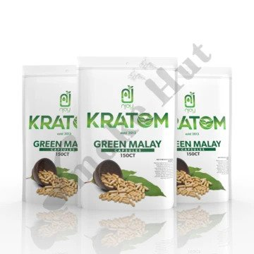 Njoy Kratom - Capsule Green Malay 150ct