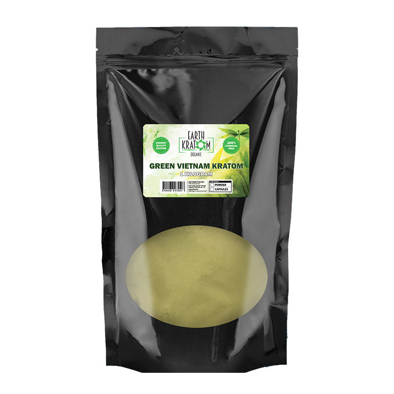 Earth - Kratom Powder Tea Green Vietnam 1kg For Sale