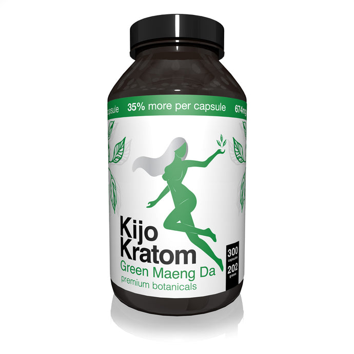 Kijo Kratom - Kratom Capsule Green Maeng Da 300ct For Sale