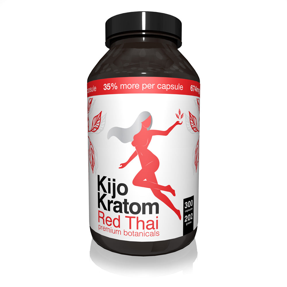 Kijo Kratom - Kratom Capsule Red Thai 300ct For Sale