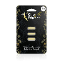 Load image into Gallery viewer, Kijo Kratom - Kratom Capsule Gold Extract 3ct For Sale