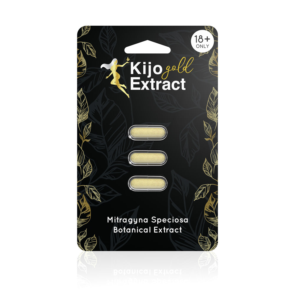 Kijo Kratom - Kratom Capsule Gold Extract 3ct For Sale