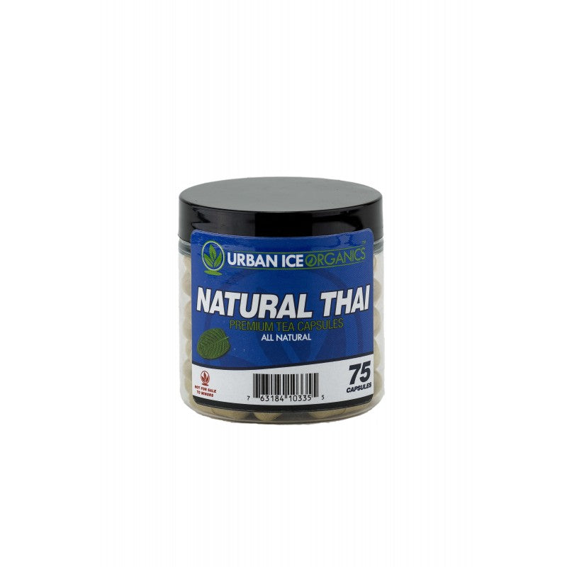 Urban Ice Organics - Kratom Capsule Natural Thai Premium Tea 75ct