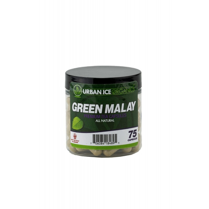 Urban Ice Organics - Kratom Capsule Green Malay Premium Tea 75ct