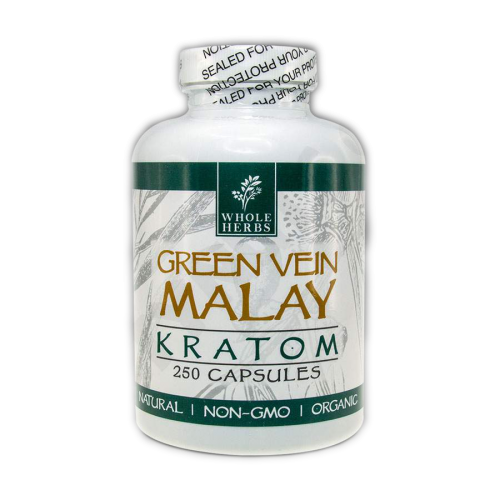Whole Herbs - Kratom Capsule Pills Green Vein Malay