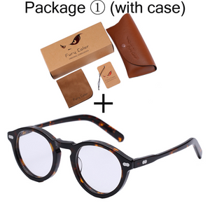 Acetate Round Style Women Men Eyewear Frames