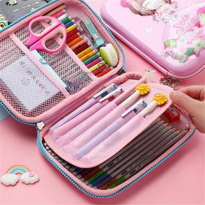 Cute 3D Silcon Pencil Box Case for Boys and Girls Gift Anti-Shock Waterproof Large Capacity Multi-Compartment