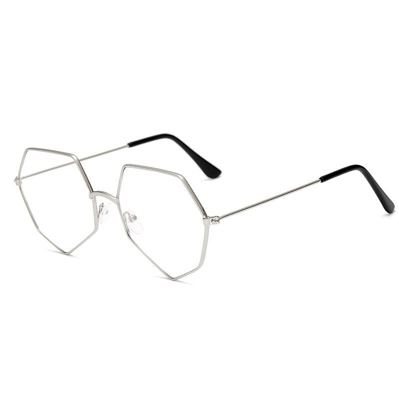 Alloy Polygon Style Women Men Eyewear Frames