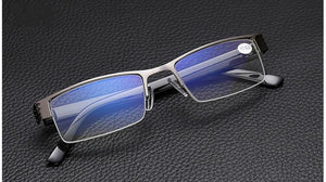 Alloy Rectangle Semi-Rimless Style Women Men Reading Glasses