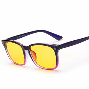 Plastic Rectangle Style Women Men Eyewear Frames