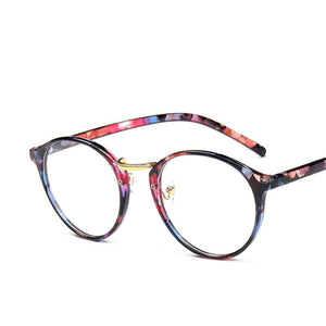 Plastic Round Style Women Men Eyewear Glasses