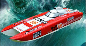 Fast Speed Catamaran Fiberglass Electric Brushless RC Boat w/ Dual 4082 Motor & Dual 120A ESC Servo