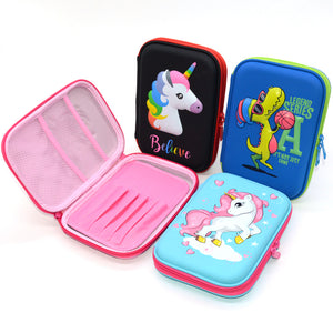 Large Capacity Multi-Compartment 3D Silcon Pencil Hold Case for Boys and Girls Gift Anti-Shock Waterproof