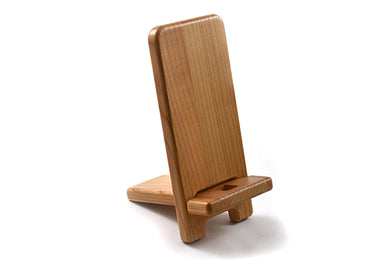 Cell Phone stand made from solid cherry
