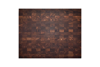 Large and Very Thick End Grain Walnut Butcher Block Board 14
