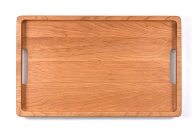 WOOD SERVING TRAY WITH LACQUER FINISH  10