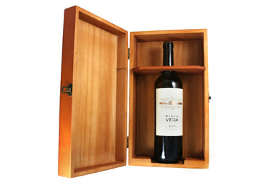Wine Box made from light Pine  ***Personalize this***